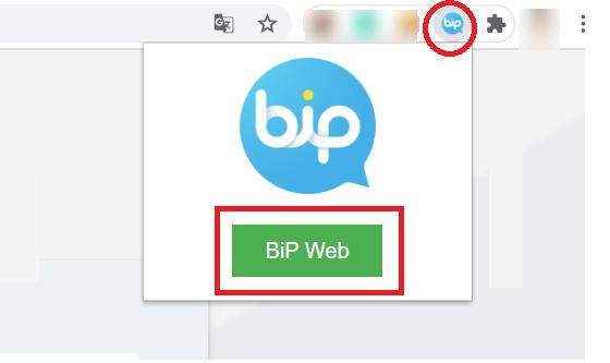 bip web chrome extension open